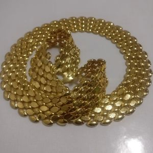 Gold plated chain necklace Jewelry - 🇨🇦 Flexible link gold plated necklace, NWOT